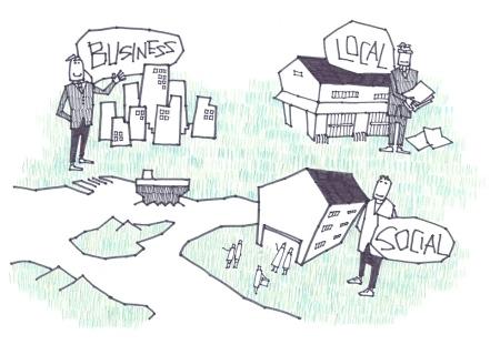 ソーシャル・ローカル・ビジネスimage イラスト:野口理沙子
